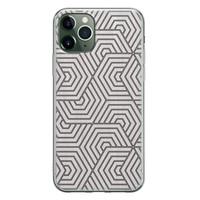 iPhone 11 Pro siliconen hoesje - Geometrisch