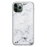 iPhone 11 Pro siliconen hoesje - Marmer grijs