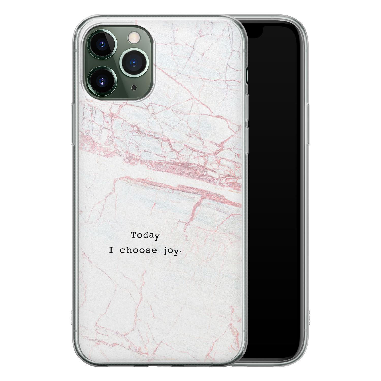 iPhone 11 Pro siliconen hoesje - Today I choose joy