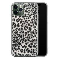 iPhone 11 Pro siliconen hoesje - Luipaard grijs