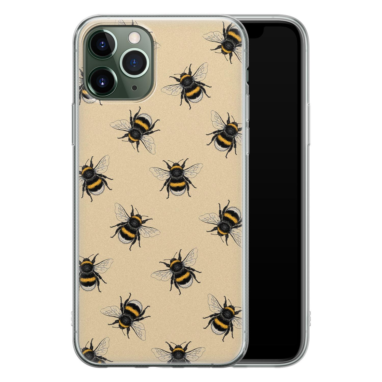 iPhone 11 Pro siliconen hoesje - Bee happy