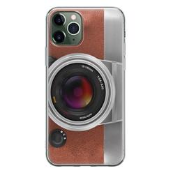 Leuke Telefoonhoesjes iPhone 11 Pro siliconen hoesje - Vintage camera