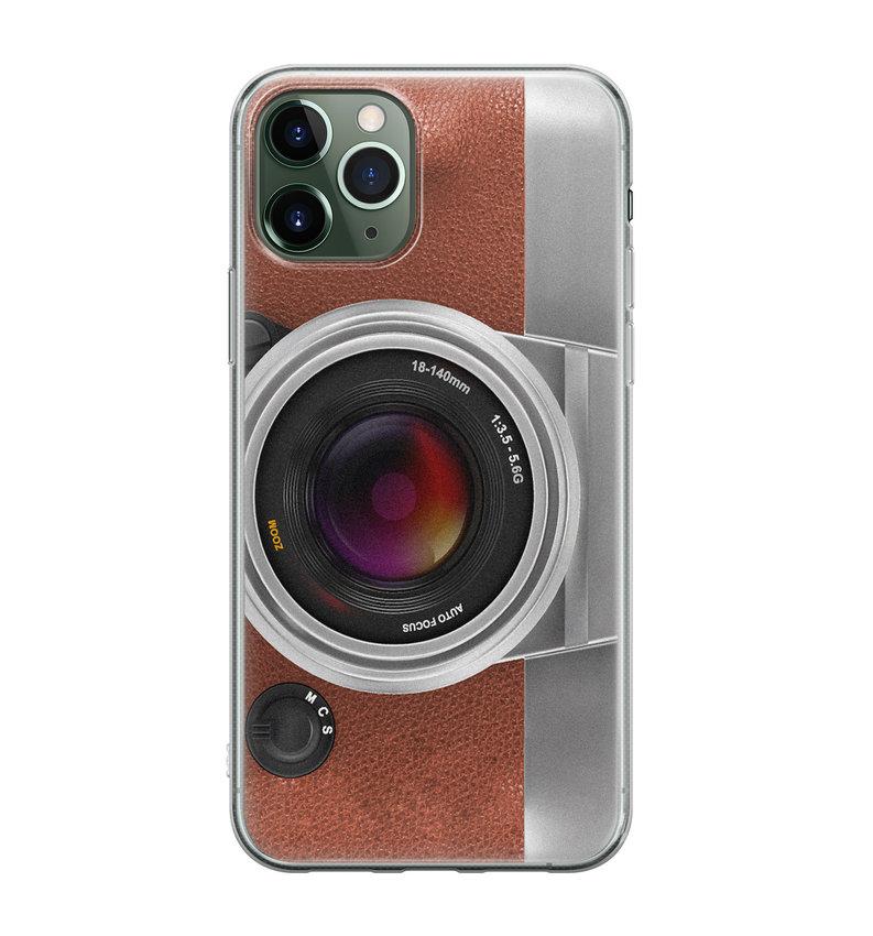 iPhone 11 Pro siliconen hoesje - Vintage camera