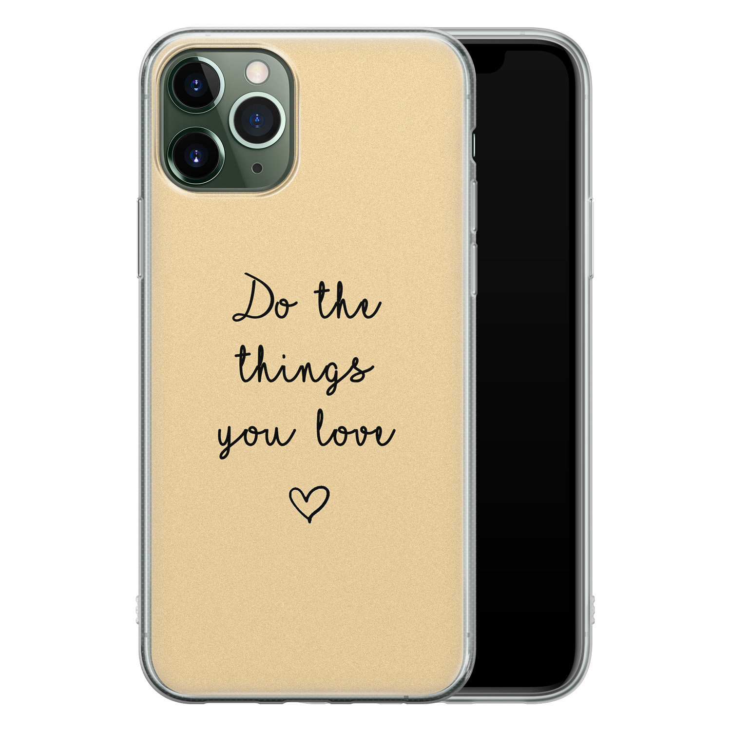 iPhone 11 Pro siliconen hoesje - Do the things you love