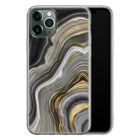 iPhone 11 Pro siliconen hoesje - Golden agate