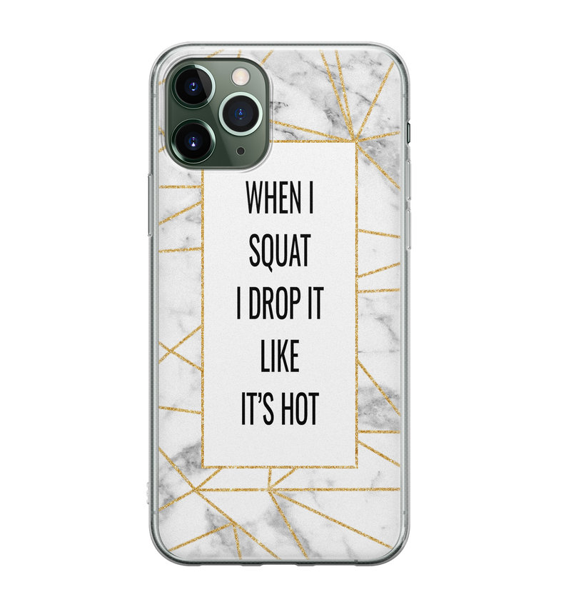 iPhone 11 Pro siliconen hoesje - Dropping squats