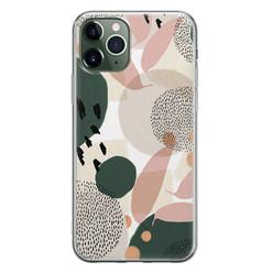 Leuke Telefoonhoesjes iPhone 11 Pro siliconen hoesje - Abstract print