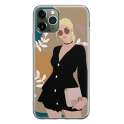 Leuke Telefoonhoesjes iPhone 11 Pro siliconen hoesje - Abstract girl