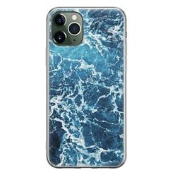 Leuke Telefoonhoesjes iPhone 11 Pro siliconen hoesje - Ocean blue