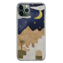 Leuke Telefoonhoesjes iPhone 11 Pro siliconen hoesje - Desert night