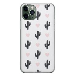 Leuke Telefoonhoesjes iPhone 11 Pro siliconen hoesje - Cactus love