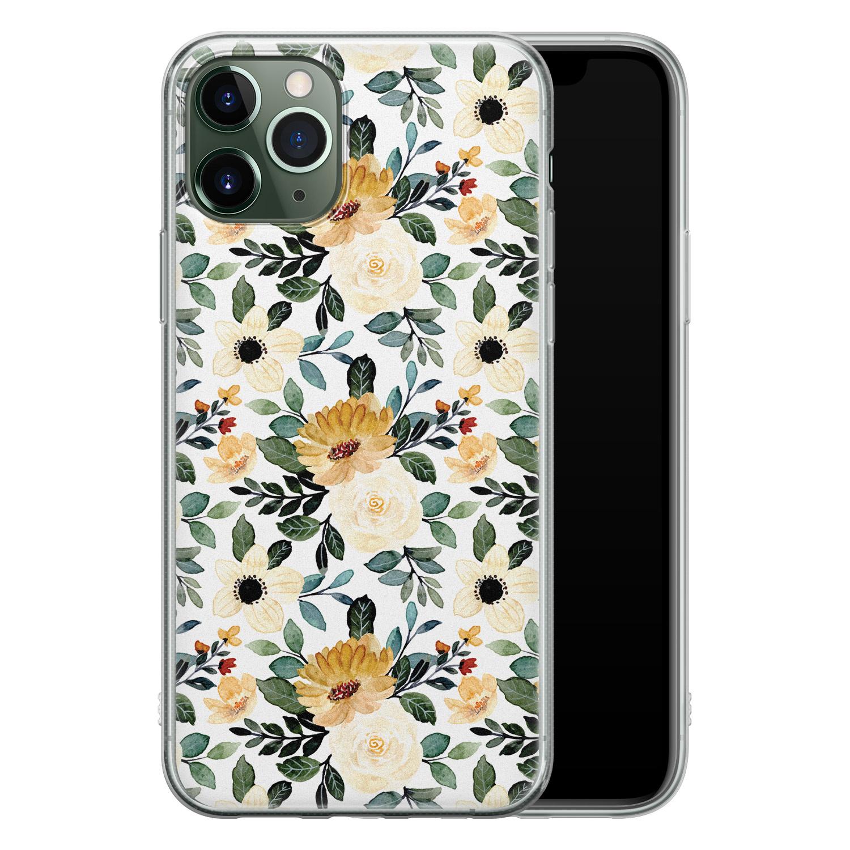 iPhone 11 Pro siliconen hoesje - Lovely flower