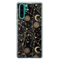 Huawei P30 Pro siliconen hoesje - Sun, moon, stars