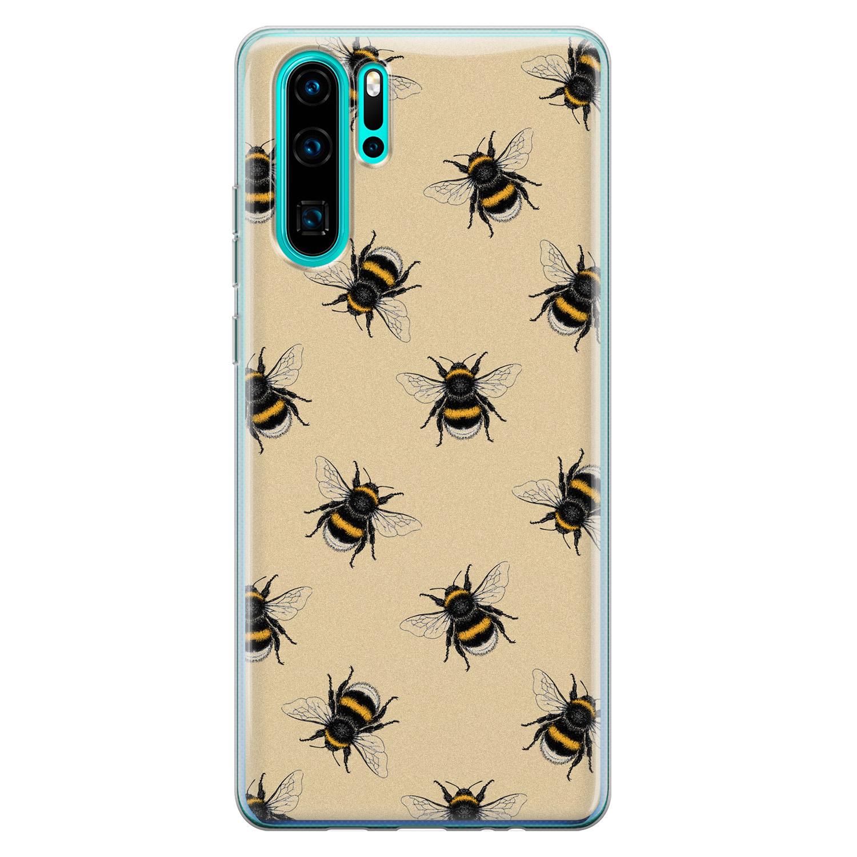 Huawei P30 Pro siliconen hoesje - Bee happy