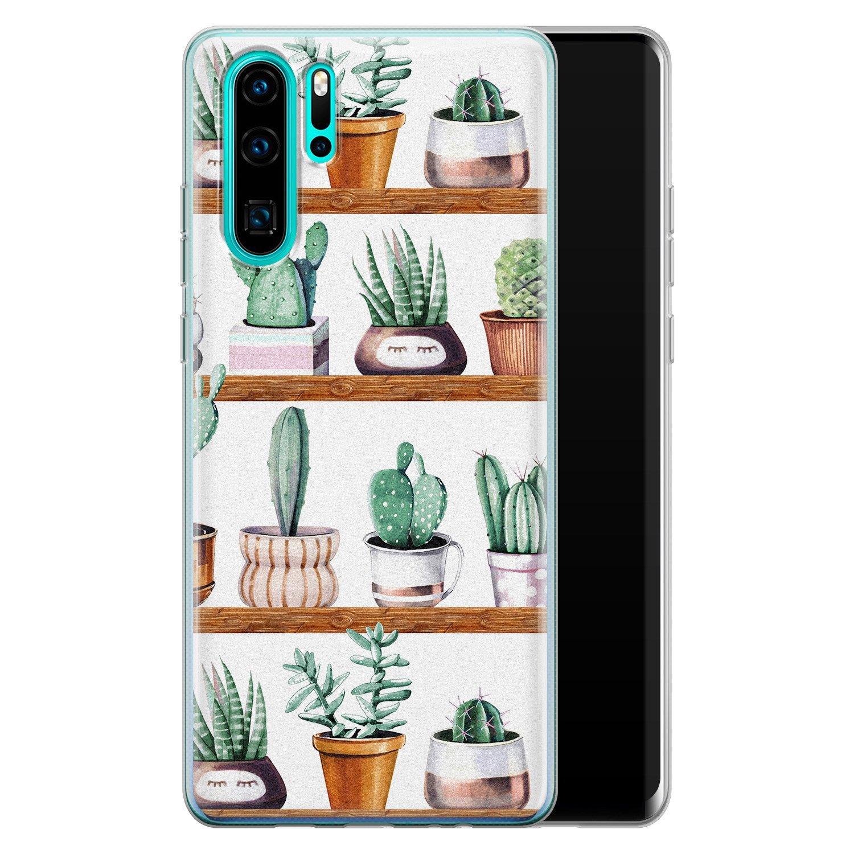 Leuke Telefoonhoesjes Huawei P30 Pro siliconen hoesje - Cactus