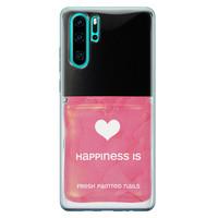 Huawei P30 Pro siliconen hoesje - Nagellak