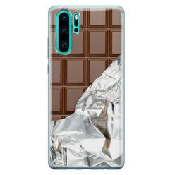 Leuke Telefoonhoesjes Huawei P30 Pro siliconen hoesje - Chocoladereep