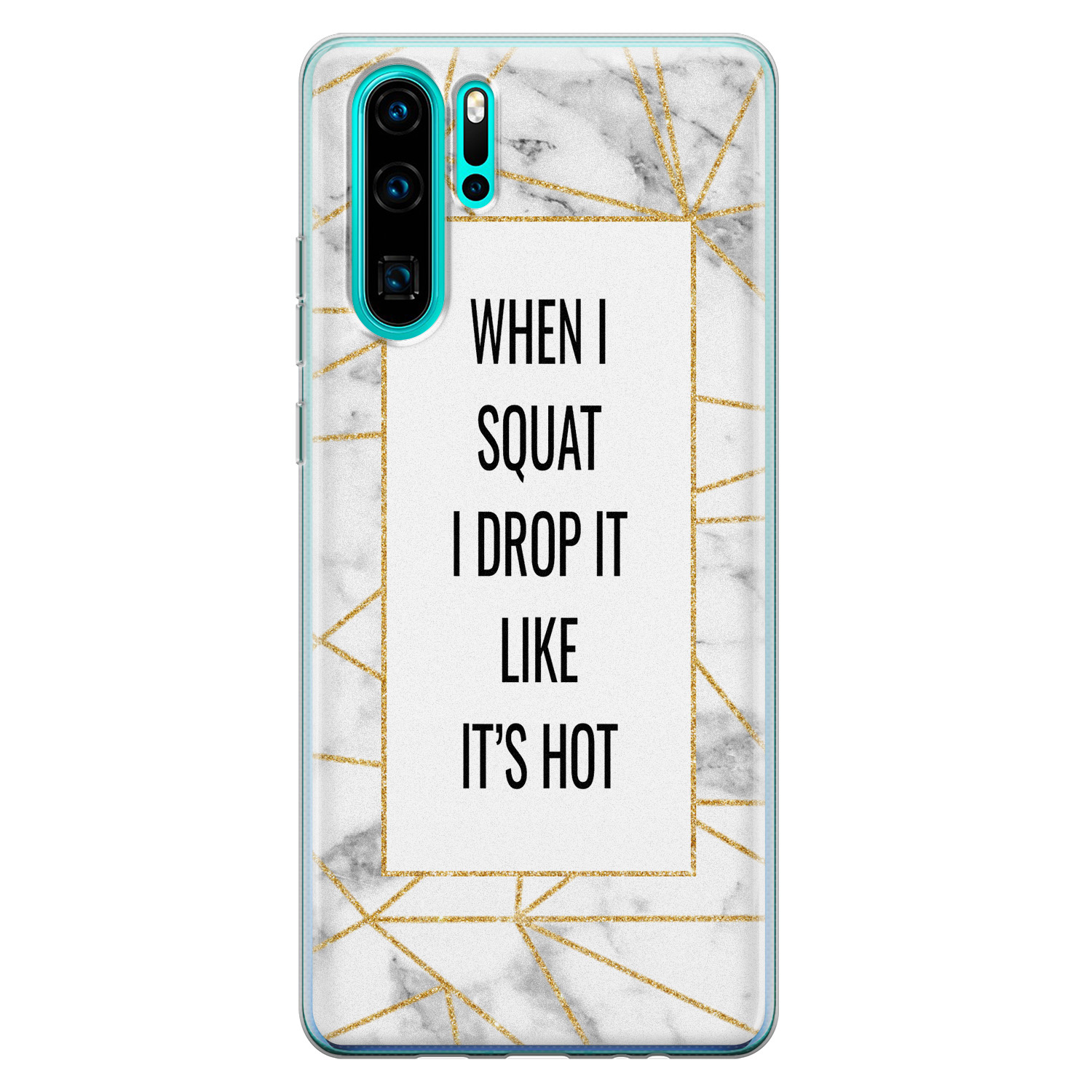 Huawei P30 Pro siliconen hoesje - Dropping squats