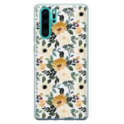 Leuke Telefoonhoesjes Huawei P30 Pro siliconen hoesje - Lovely flower