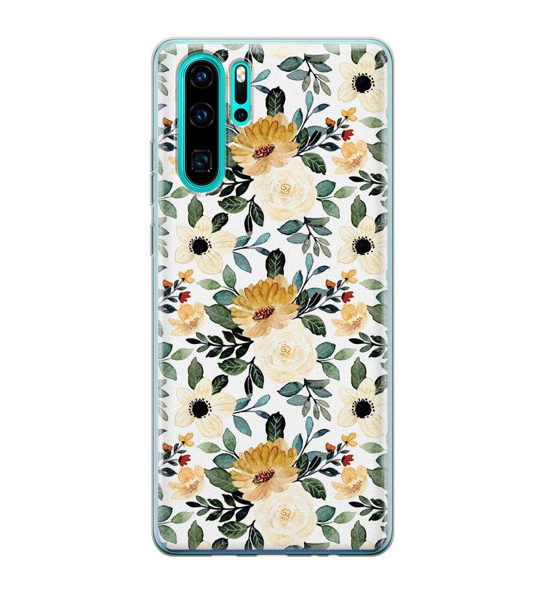 Huawei P30 Pro siliconen hoesje - Lovely flower