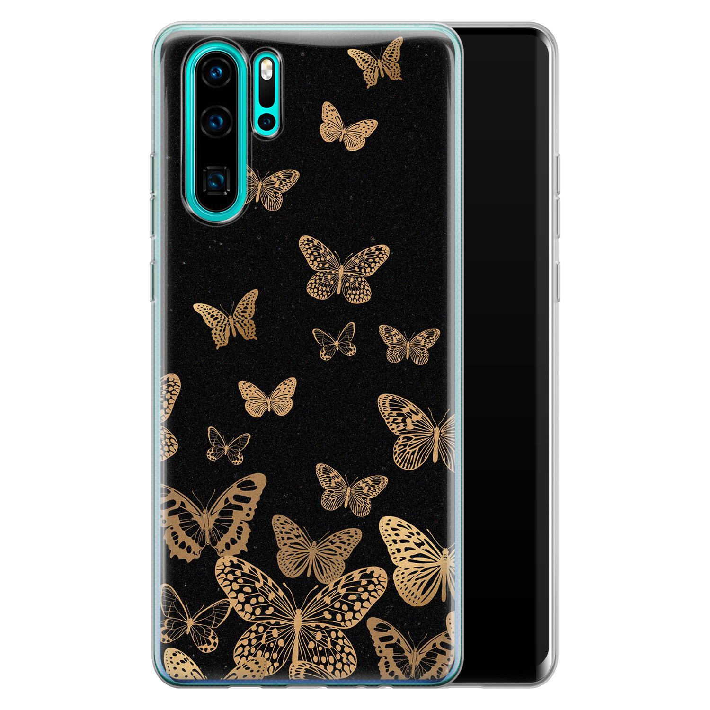 Huawei P30 Pro siliconen hoesje - Vlinders