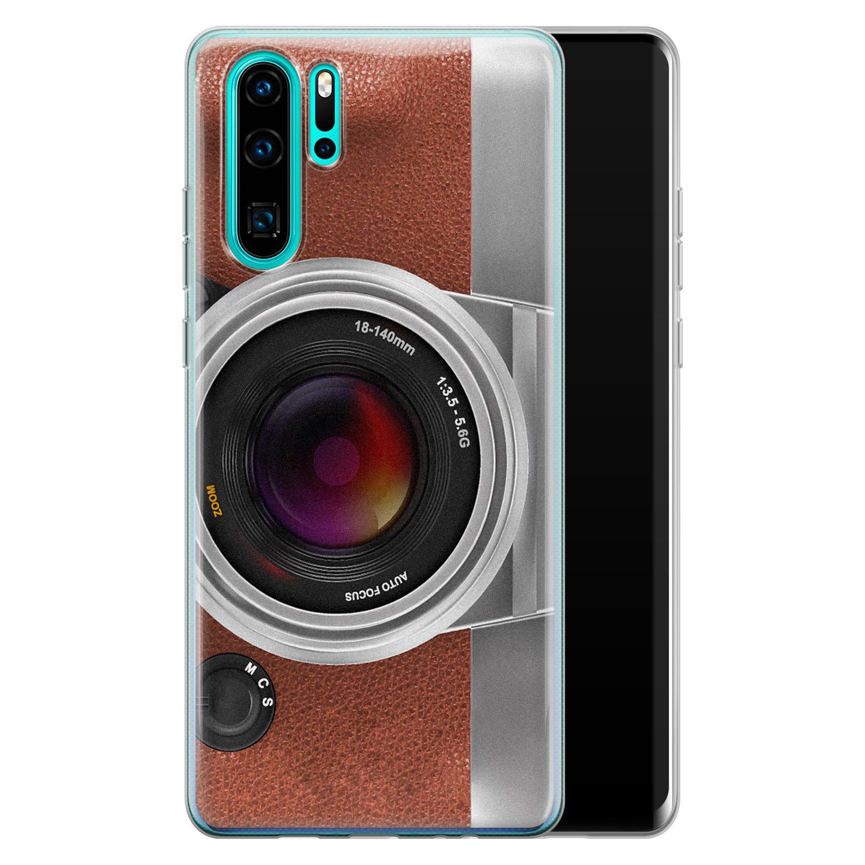 Huawei P30 Pro siliconen hoesje - Vintage camera