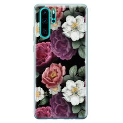 Leuke Telefoonhoesjes Huawei P30 Pro siliconen hoesje - Bloemenliefde