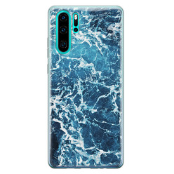 Leuke Telefoonhoesjes Huawei P30 Pro siliconen hoesje - Ocean blue