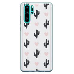 Leuke Telefoonhoesjes Huawei P30 Pro siliconen hoesje - Cactus love