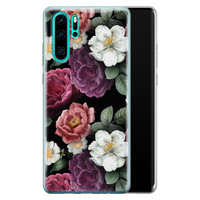 Huawei P30 Pro siliconen hoesje - Bloemenliefde