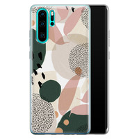 Huawei P30 Pro siliconen hoesje - Abstract print