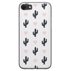 Leuke Telefoonhoesjes iPhone 8/7 siliconen hoesje - Cactus love