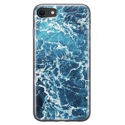 Leuke Telefoonhoesjes iPhone 8/7 siliconen hoesje - Ocean blue