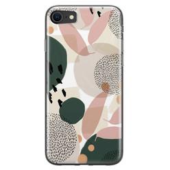 Leuke Telefoonhoesjes iPhone 8/7 siliconen hoesje - Abstract print