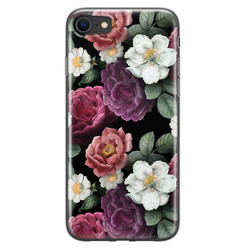 Leuke Telefoonhoesjes iPhone 8/7 siliconen hoesje - Bloemenliefde
