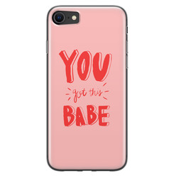 iPhone 8/7 siliconen hoesje - You got this babe!