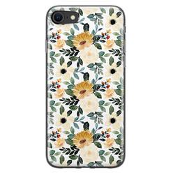 Leuke Telefoonhoesjes iPhone 8/7 siliconen hoesje - Lovely flower
