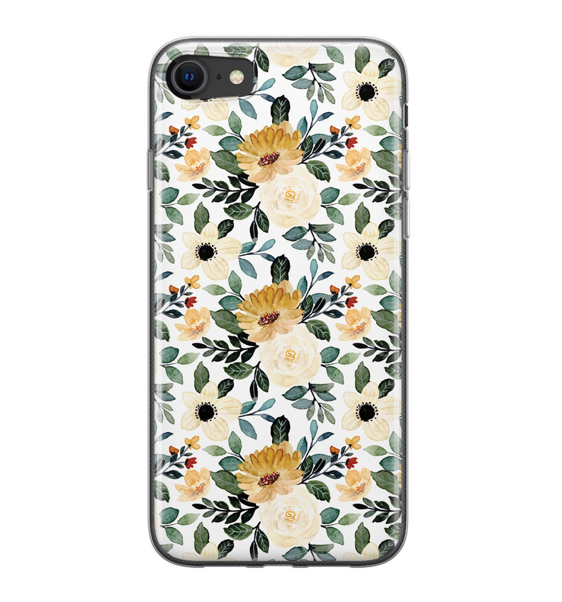 iPhone 8/7 siliconen hoesje - Lovely flower