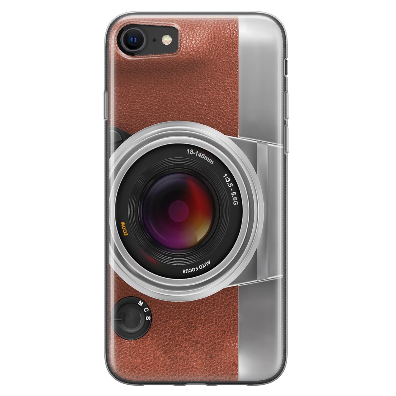 iPhone 8/7 siliconen hoesje - Vintage camera