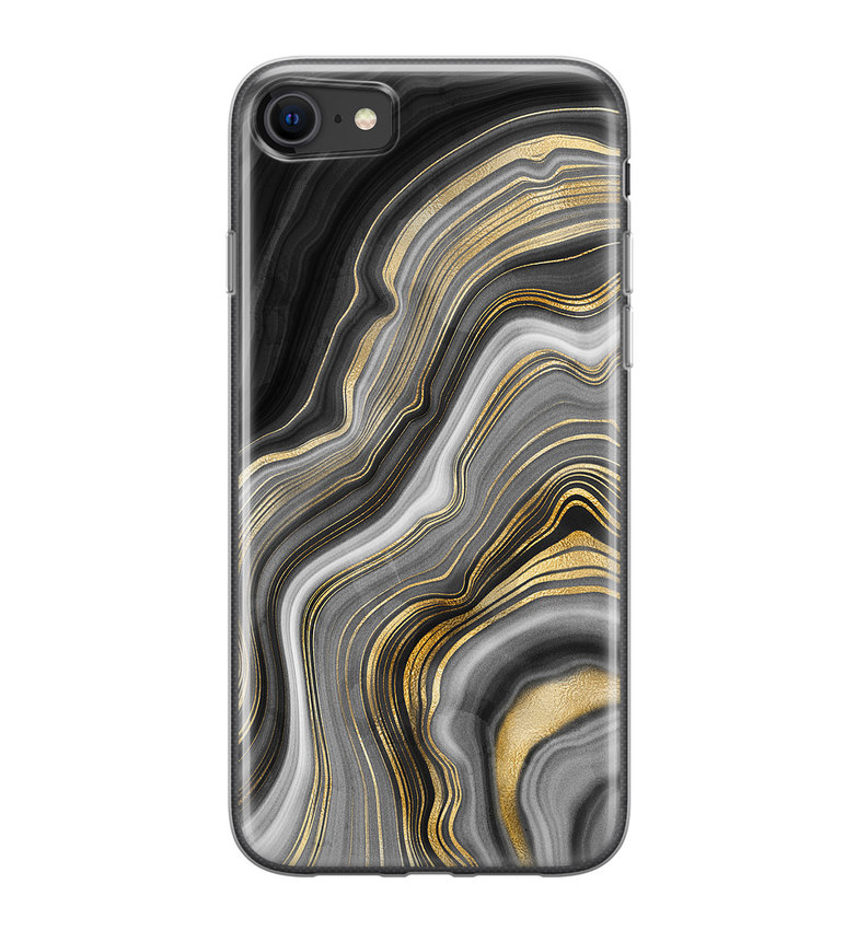 iPhone 8/7 siliconen hoesje - Golden agate