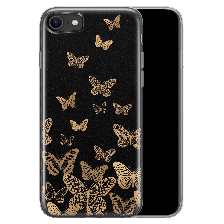 iPhone 8/7 siliconen hoesje - Vlinders