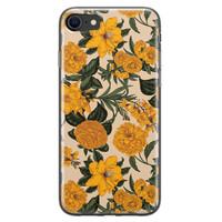 Leuke Telefoonhoesjes iPhone 8/7 siliconen hoesje - Retro flowers