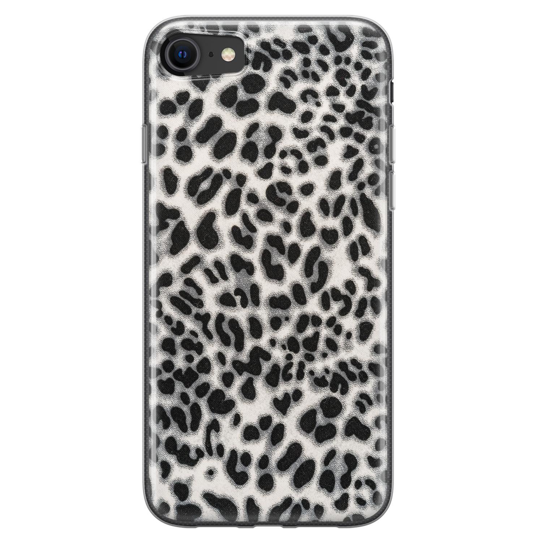 iPhone 8/7 siliconen hoesje - Luipaard grijs