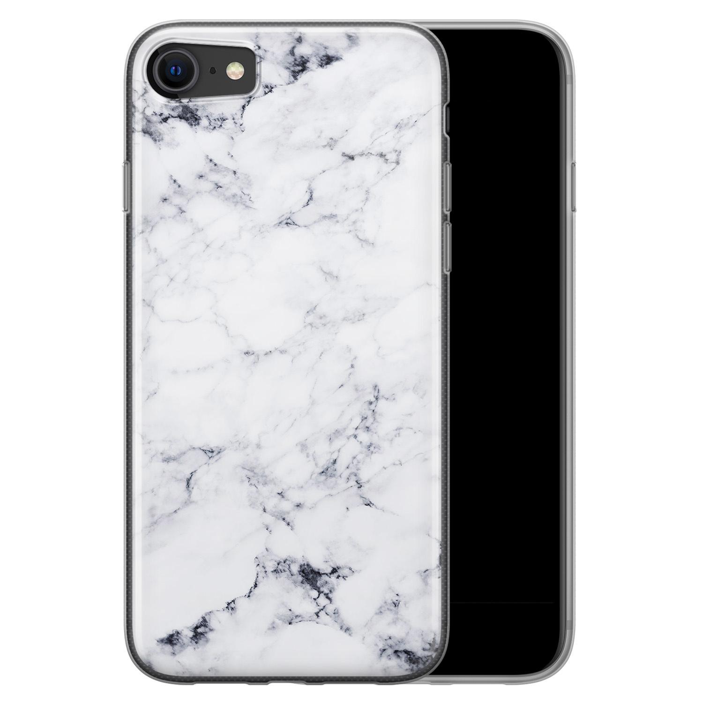 iPhone 8/7 siliconen hoesje - Marmer grijs