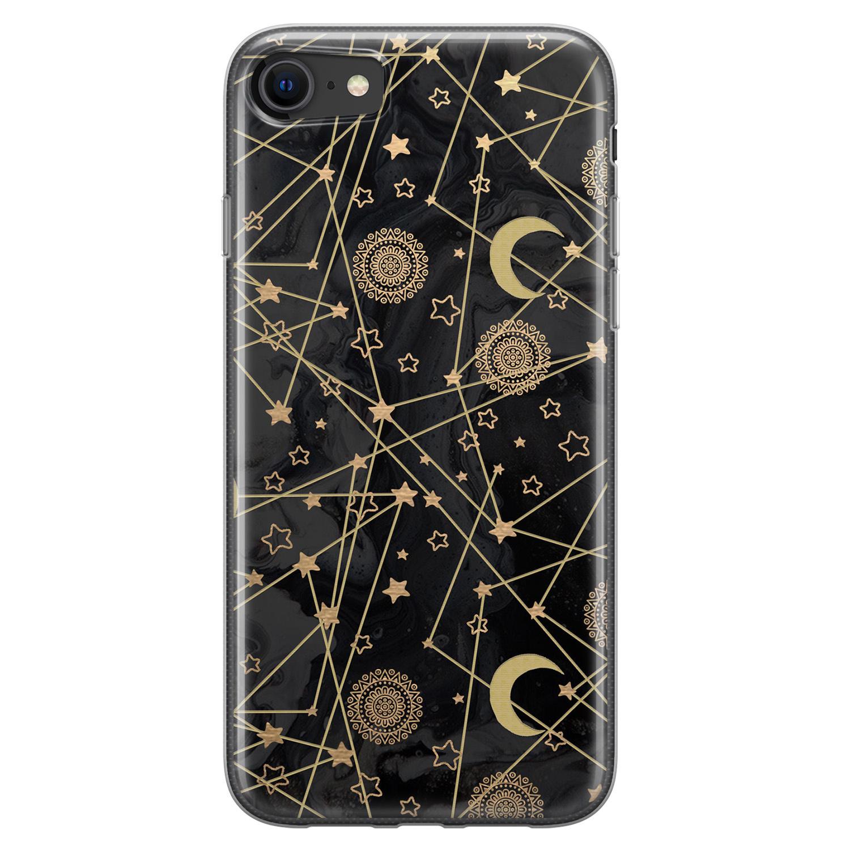 iPhone 8/7 siliconen hoesje - Sun, moon, stars