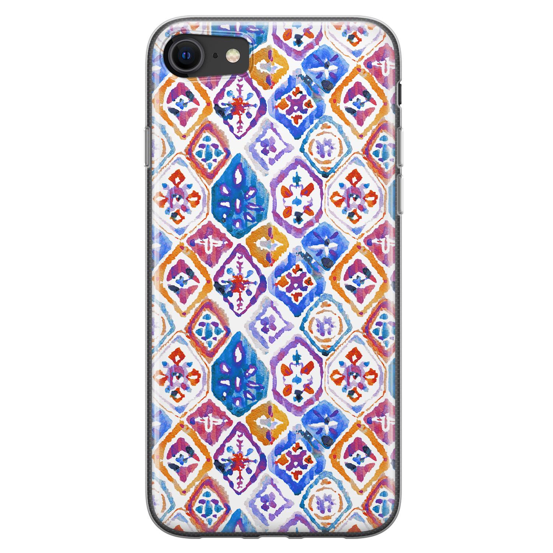 Leuke Telefoonhoesjes iPhone 8/7 siliconen hoesje - Boho vibe