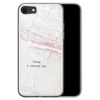 iPhone 8/7 siliconen hoesje - Today I choose joy