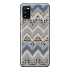 Leuke Telefoonhoesjes Samsung Galaxy A41 siliconen hoesje - Retro zigzag