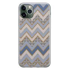 iPhone 11 Pro siliconen hoesje - Retro zigzag