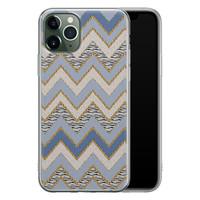 Leuke Telefoonhoesjes iPhone 11 Pro siliconen hoesje - Retro zigzag